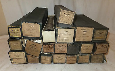 Job Lot 21 Mixed PIANOLA ROLL Vintage PIANO Sheet MUSIC Classical BOXED Antique