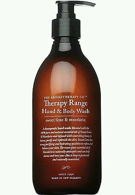 NEW The Aromatherapy Co Hand & Body Wash Sweet Lime & Mandarin LimeMand