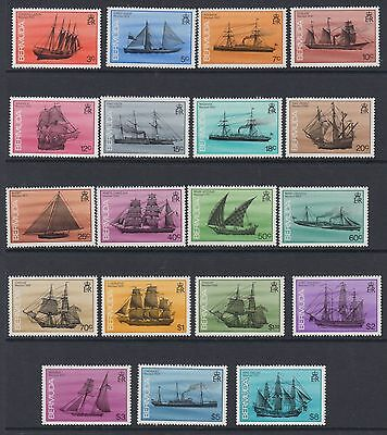 Bermuda 1986 Shipwrecks Set of 19 MNH