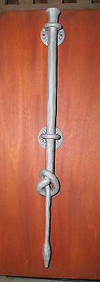 Gothic Wrought Iron, Door Pull/Handle with Knot, Forged by Blacksmith.