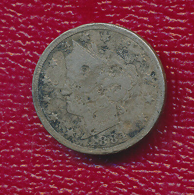 """1884 Liberty Head """"v"""" Nickel **better Date In Series** Nice Add To A Collection!"""