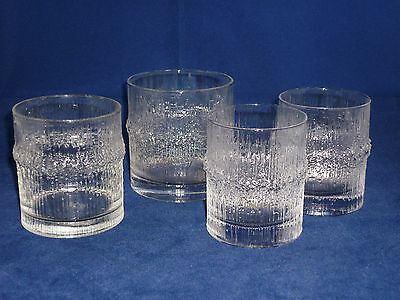 iittala NIVA Tapio Wirkkala 4 Mixed Sizes Glasses Scandinavian Mid Century