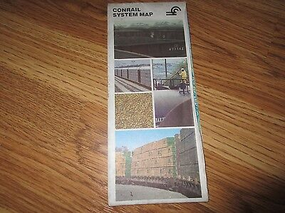 * CONRAIL  SYSTEM Fold-out  MAP - Railroad