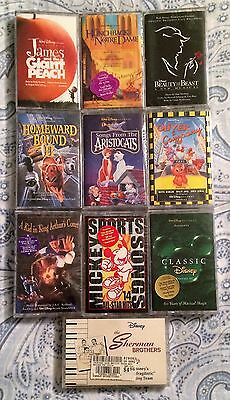 Lot of 10 DISNEY Soundtrack Audio Cassettes NEW SEALED Aristocats, Mickey + MORE