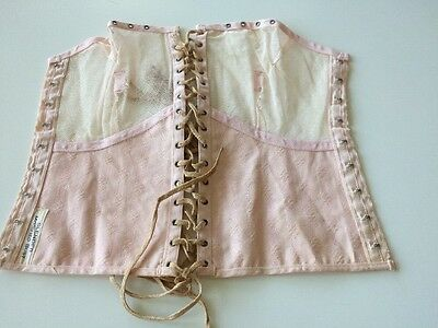 Antique Corset Bra Remnant 4 Salvage Sample Pink Crafters Dolls Costume Parts