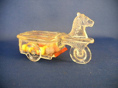 Vintage Glass & Tin Toy Kiddie Kar Candy Container 1923