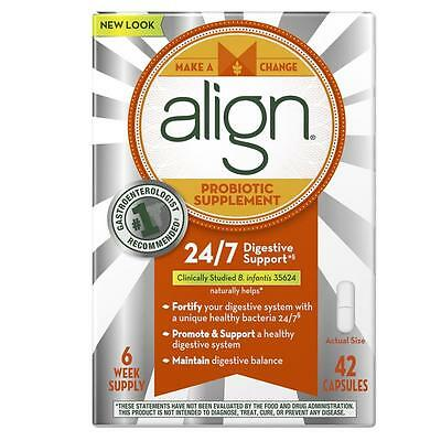 NEW Align Probiotic Supplement 24/7 Digestive Support 42ct 6-week Stomach Gastro