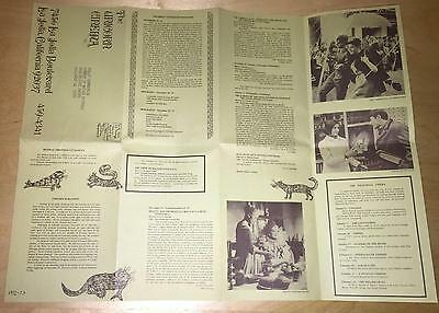 The Unicorn Cinema Schedule 1972-73 Film Ad La Jolla California Movie Theater