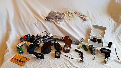 Lot of vintage camera light meters and accesories