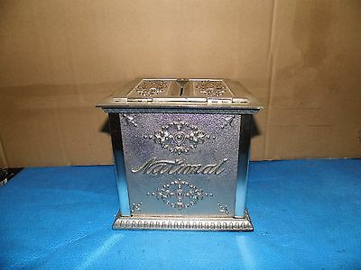 Antique National Cash Register Receipt Ticket Box Nickel Plated Finish