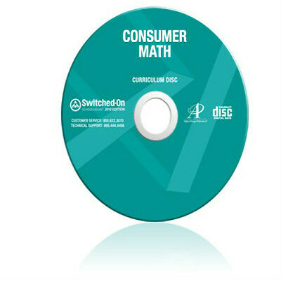 SOS Consumer Math Homeschool Curriculum CD Switched On Schoolhouse Grades 9-12