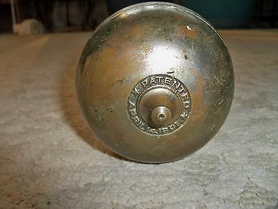 Vintage Door Bell COMPLETE  Brass Pat. April 1891 Victorian Twist Handle Works