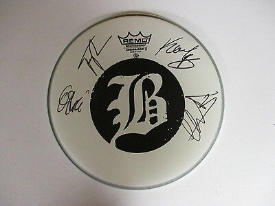 Beartooth Band Autographed Signed Drumhead 2 With Signing Picture Proof
