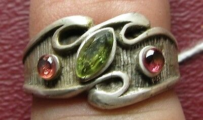 Antique Sterling Silver Sapphire Ring  6 3/4 US 17mm 9575