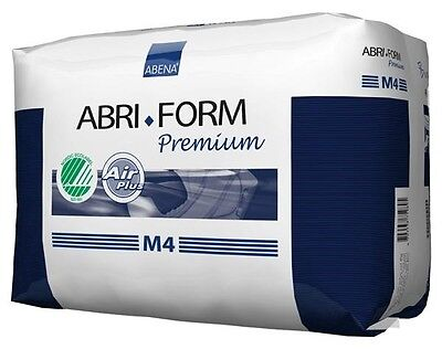 Abena Abri Form Med M4 Case - 4 x packs  of 14 Adult Nappies for Incontinence