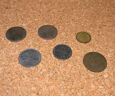 Lot of  6 old Italian Coins