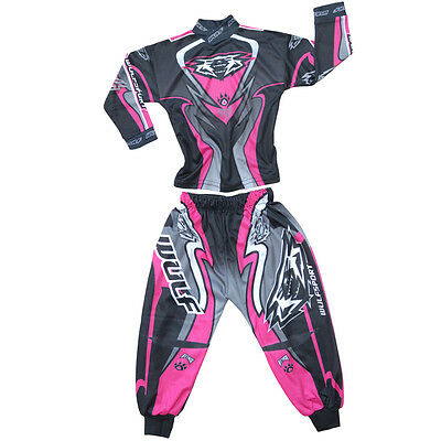 Wulfsport Toddler Kids Suit Jersey Pants Motorbike Motocross Age 2yrs Only Pink