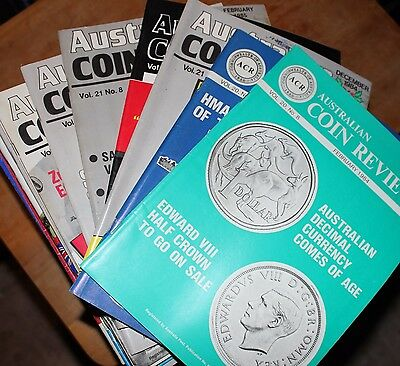 Over 50 Australian Coin Review Magazines From The 1970's & 1980's