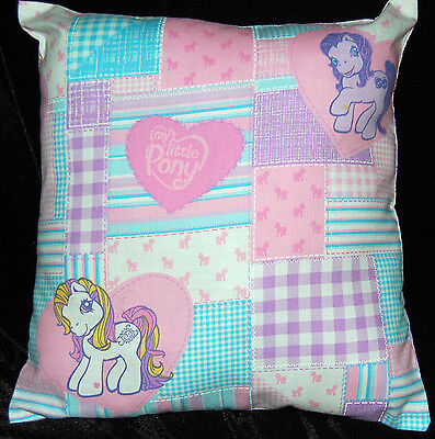 New Handmade  My Little Pony Plaid Travel / Toddler/ Cuddle Pillow
