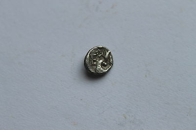 ANCIENT GREEK EPHESOS SILIVER OBOL COIN 3rd CENTURY BC BEE/STAG