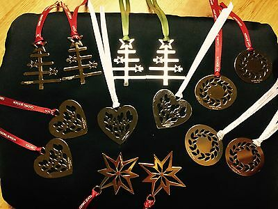 Georg Jensen Decorations -  Set Of 14 Gold/silver Christmas Decoration