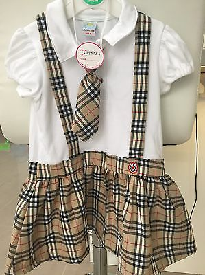Toddler Girls Xmas Check Outfit Dress