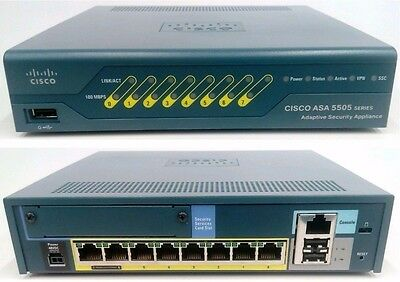 Cisco ASA 5505 Firewall Adaptive Security Appliance VPN new in open box