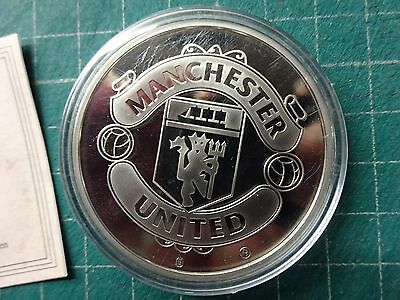 Rare MANCHESTER UNITED FC 2008 Copper Nickel Limited Edition Large Coin + COA