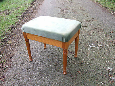 upholstered pine stool, needs recovering