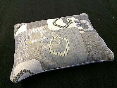 Small Retro Print Grey/blue/green Cat Dog Puppy Pet Bed Cushion Zipped Washable