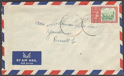 British Solomon Islands 94 on 1959 cover Munda to Yandina