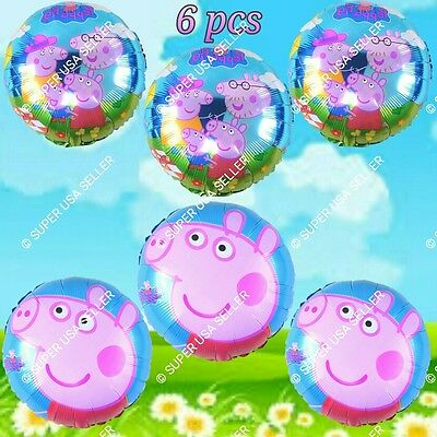 PEPPA PIG Foil Balloons Barnyard Animal Decor Shower Birthday Party Supply lot A