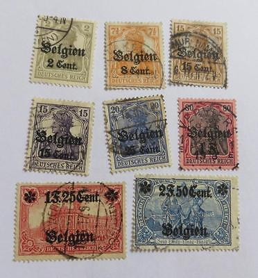 Germany  1916 Belgium Occupation small collection used