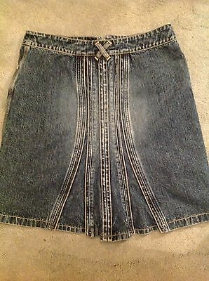 Jasper conran denim skirt age 14 or suitable for a size 8/10