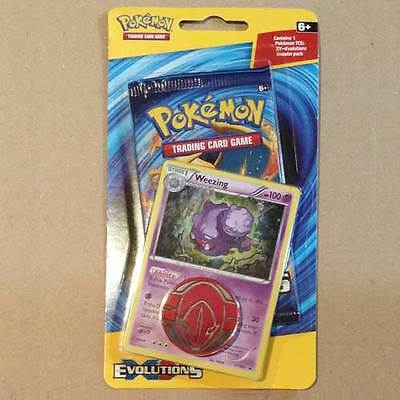 POKEMON TCG XY Evolutions Checklane Blister x 1 Packet Weezing NEW card game