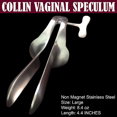 Collin Vaginal Speculum Size Large Non Magnet Stainless Steel