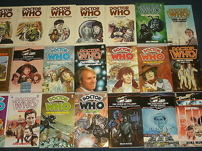 Classic Target/BBC Doctor Who Paperback Novels: Doctors 1-7 TV Adaptions Nr.Mint
