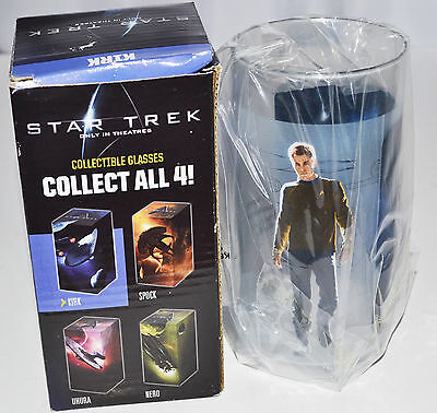 Nib Star Trek Collectible Glasses Tumbler Kirk 2008
