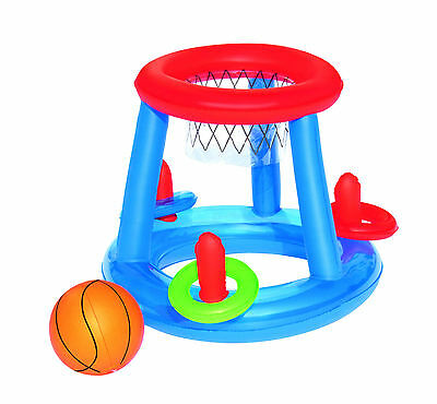 Pool Floating Game Centre Ring Toss Basketball Inflatable Toy Pool Swimming New