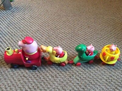 Peppa Pig Fair Ground Train With Carriages