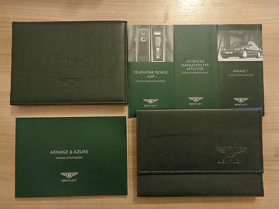 Bentley Arnage T Owners Handbook/Manual and Wallet FRENCH