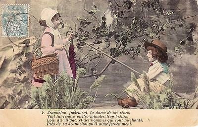 Early 1900s FRENCH SONG postcard - JEANNETON, JEANNETON - Excellent