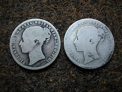 1874 and 1873 shillings