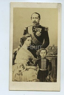 CdV Photo Of Emperor Napoleon III & Eugenie & Prince Imperial Of France c1860s