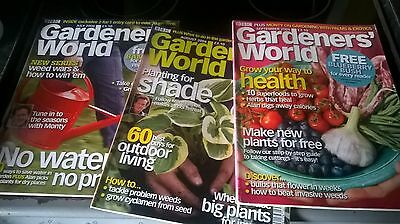 3 x BBC GARDENERS' WORLD MAGAZINE from Mid 2006 for sale / MONTY DON +++
