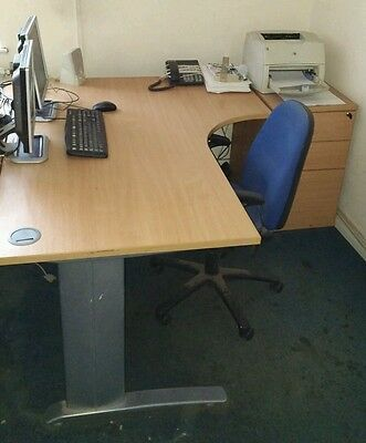 Office Desk, Drawer Unit and Chair