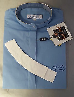 Mark Todd Stretch Ladies Blue Competition shirt Short Sleeves Size 14/L