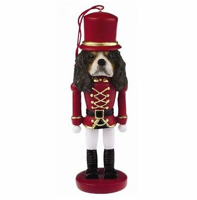 CAVALIER KING CHARLES  DOG CHRISTMAS ORNAMENT NUTCRACKER SOLDIER HOLIDAY Tri