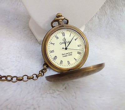 Chinese bronze sculptures can use mechanical steam train old pocket watch