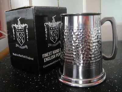 English Hand made pewter Tankard made in Sheffield